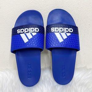 Adidas Adilette Slip On Comfort Slide Sandals Blue
